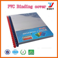 160mic opaque pvc binding cover plastic stationery book cover
