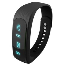 Cheap Black E02 Bluetooth 4.0 Smart Sports Bracelet , Support Camera Remote / Video Remote / Sport Tracking / Sleep Tracking