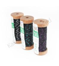 2015 4.5meters metallic yarn 1.2mm waxed hemp cord, wooden spool, walmart cord