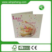 Custom Design Music Greeting Card For Birthday/ Sound Greeting Card