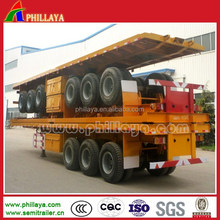 China Hot Sale PHILLAYA tri-axle 40-60 tons 3 axles truck container trailer / container semi trailer/40ft container trailer