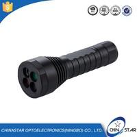 Trade Assurance alumium candy color led vibrator flashlight