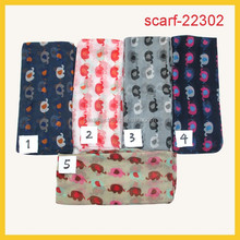 cheap promotional scarf lovely elephant print scarf