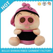 2015 High quality custom pig plush toy, plush pig toy, plush mech toy pig