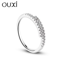 OUXI 2015 fashion rings, 925 sterling silver wedding ring Y70052