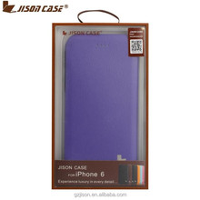 2015 jisoncase new product leather flip case for iphone 6 case