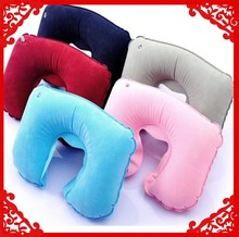 factory wholesale U-Shape inflatable pillow/inflatable travel pillow/inflatable neck pillow as promotional gift 2015