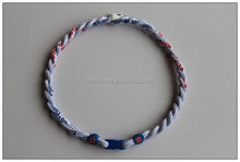 Chicago Cubs Double Rope Tornado Titanium Sports Necklaces