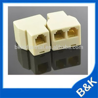 Bangladesh RJ11 Gold plated Telphone Adapter ABS MOQ500pcs Surface Box with Extension Cable