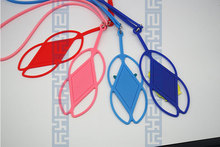 Eco-friendly silicone lanyard silicone mobile/cell phone case neck strap