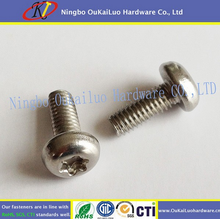 Affordable fair machine screws Pan head machine screws with phillips with yellow zinc plated manufacturer direct selling