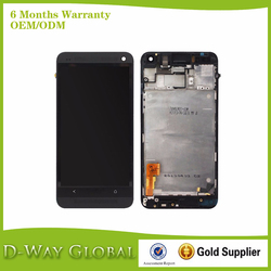 Mobile Phone Repair Parts Black Color For HTC M7 Lcd With Touch Screen With Frame