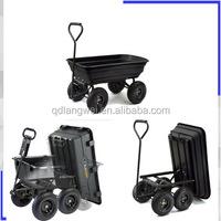 Garden Yard Dump Utility Pull Lawn Cart