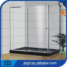 stainless steel sliding glass shower door /shower room for hotel(PF010)