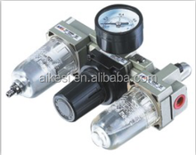 AKS air source treatment units manufacturer good quality AC2000-02 type FRL filter regulator & lubricator combination