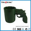 gift mug green color gun mug ,lovers funny coffee mug