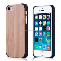 High quality Mobile Phone Cover Case Wood+PC for iphone 5s case wood and pc alibaba china
