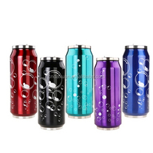 2015 Wholesale 5 stainless steel milk can .coke can stainless steel vacuum flask with straw