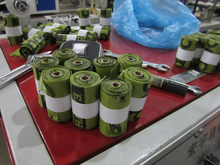 Full Auto Dog Poop Bag in Roll Making Machine with Paper Core