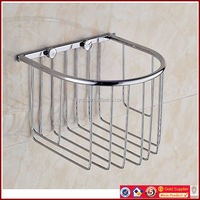 3190 Stainless Steel Tissue Paper Basket Chrome Plated