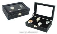 PU leather diesel watch box, extra watch box size