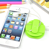 factory hot sales promotion gift candy color bird shape earphone cable winder