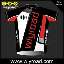 Custom service cycling wear red/dry-fit bicycle jersey/clothing for white cycling with very good price