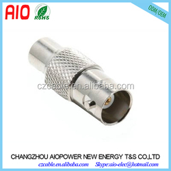 Straight zinc alloy Coaxial Adapter RCA Female to BNC Female RCA to BNC
