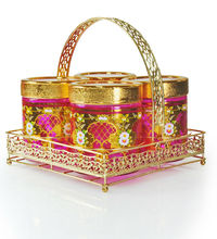gold decal colorful spraying glass jar TOP SALES in Indonesia