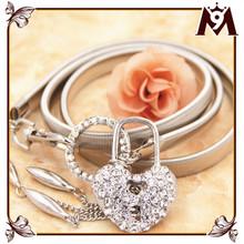 Alibaba website hot selling fashion women western dress accessories metal belts belt with crystal