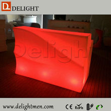 Night club furniture remote control illuminated portable furniture with led light for wedding