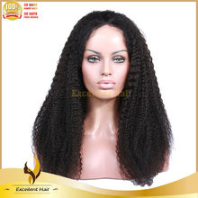 wholesale Brazilian afro kinky curl lace wig natural color cheap human hair full lace wigs