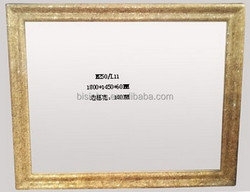 High-Glass K Gold Frame Decorative Console Mirror, Bisini Mirrored Art Furniture BF02-M250