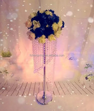 Wholesale handmade beautiful crystal flower stand for wedding &party decoration &In event