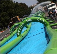 Top Selling 1000ft Inflatable Slide the City Water Slip n Slide, Custom made Inflatable City Slide