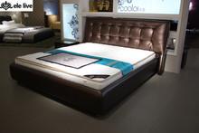 Leather Upholstered Platform Bed, Queen N802P