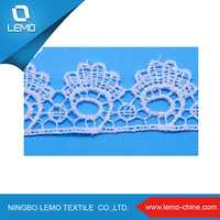 Diverse style of polyester chemical lace for lace evening dress