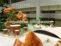 Fake fiberglass yard stone