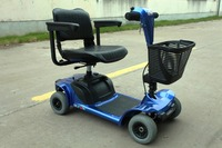 Folding 4 wheel electric mobility scooter for disabled and handicapped