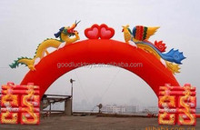 inflatable festival; festive; jubilant ; gate for wedding /inflatable wedding arches/inflatable entrance arch