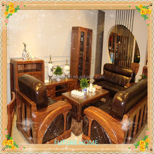 low price modern living room wooden leather sofa set designs hot sell with Warranty & After-sales