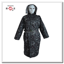 changzhou OEM 190T polyester Europe plus size woodland camouflage rain jacket for army