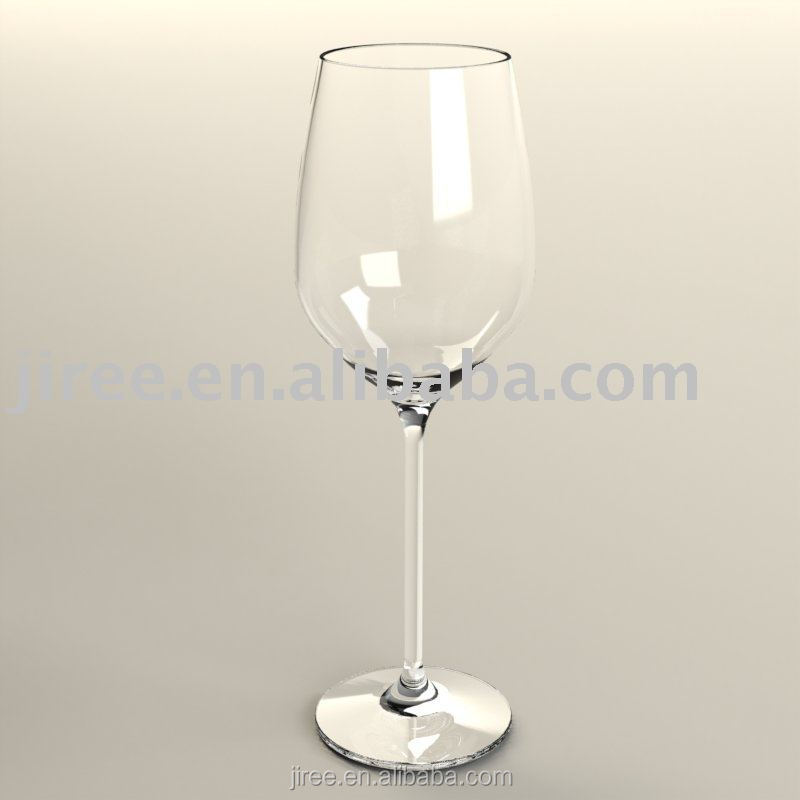 Wholesale transparent plastic wine glass with thin stem for Thin stem wine glasses
