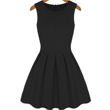 New style for 2016 Ladies black loose dress casual dress women elegant garments made in China overseas clothing factory