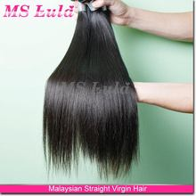 Jet black Kinky Straight Malaysian Virgin Human Hair Extension