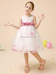 2015 formal gowns kids fashion bridal flower girl pink dress frock design for baby girl evening dress for girls 12 years