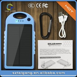 Universal Portable Custom 5000mAh Solar Power Bank