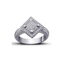 silver jewelry party with cz micro pave ring