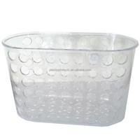 Wall mounted plastic shampoo basket