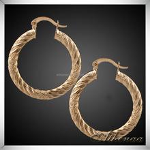 2015 Golden Earring Designs For Women Fashion Dubai Gold Jewelry Earring